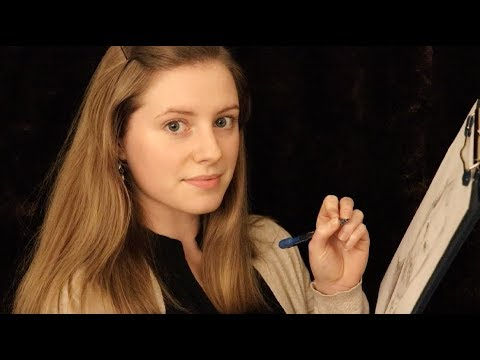 ASMR – English Artist Sketches You (Ozley ASMR)
