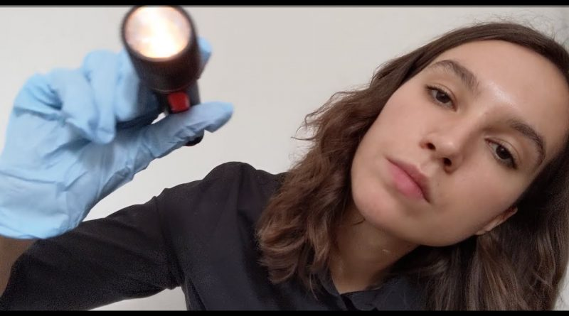 ASMR Cranial nerve exam (ASMR Eliza)